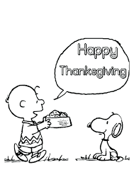 Thanksgiving Coloring Pages Charlie Brown At Getcoloringscom Free