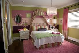 Pink And Green Girlu0027s Bedroom.