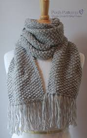 Free Knitting Patterns For Scarves Extraordinary Free Beginner Scarf Knitting Pattern Posh Patterns