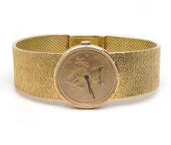 ladies bueche girod 18k yellow gold 1897 10 coin manual watch 3675 00 previous next