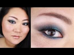 aqua blue summer look makeup tutorial for asian monolids