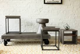 furniture on wheels. Vega Concrete Coffee Table On Wheels - Tables Furniture Maison.