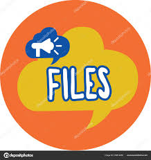 Conceptual Hand Writing Showing Files Business Photo Text Folder