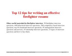 Tips On Writing Resume top100tipsforwritinganeffectivefirefighterresume100phpapp100thumbnail100jpgcb=100 76