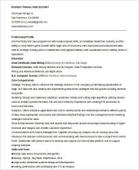 Data Scientist Resume India