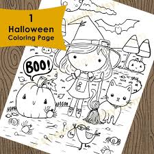 Cute Halloween Coloring Pages For Kids 1 Cute Halloween Coloring Page Kids Downloadable Coloring Page