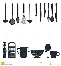 kitchen utensils silhouette vector free. Contemporary Vector White Background With Monochrome Silhouette Different Utensils Of Kitchen  Border Style RoyaltyFree Vector For Kitchen Utensils Silhouette Free C