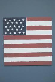 american flag painting 80x80 cm