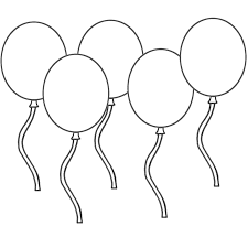 Unique Balloon Coloring Pages 43 For Gallery Coloring Ideas with ...