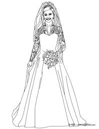 Wedding Dress Coloring Page For Girls Printable Free In Bridal Pages