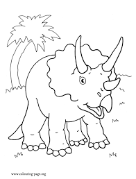 Small Picture Dinosaurs A Triceratops Dinosaur coloring page
