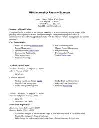 resume for an internship getessay biz mba resume example mba resume example in resume for