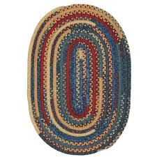 home decorators collection hearth denim 5 ft x 7 ft oval braided area rug