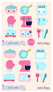 Instant Download Kawaii Kitchen Clipart And Vectors For Personal