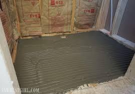 tile ready shower pan installation sawdust girl in shower pan tile decorating