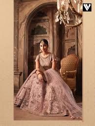 Rosy S Party Designers Buy Designer Rosy Brown Net Lehenga Choli With Zari Work Online