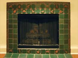 Decorative Tiles For Fireplace Manificent Design Arts And Crafts Tiles For Fireplaces Impressive 19