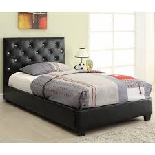 twin bed. Plain Bed Black Leather Twin Size Bed Inside