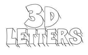 letter drawing how to draw 3d letters