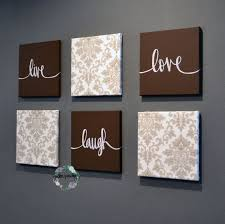 live laugh love wall art 6 pack canvas
