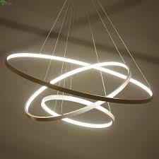 diy led home lighting. Contemporary Home Nordic DIY Aluminum Ring Led Pendant Chandelier Lighting Lustre Acrylic  Bedroom Hanging Lights Dining To Diy Home