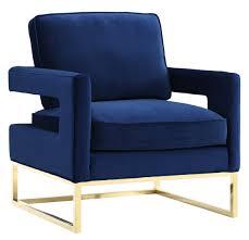 rachel george navy blue velvet  gold chair  furniture  home