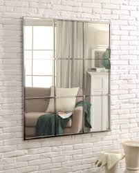 florencia chrome plated wall mirror casement window style