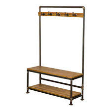 Coat And Shoe Rack New Foundry Metal Bench Coat and Shoe Racks Storage Unit 66