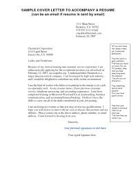 Example Of Cover Letter For Resume Gallery Letter Samples Format