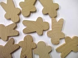 5 x wooden gingerbreadman solid wood 942 p jpg