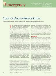 Pdf Color Coding To Reduce Errors The Broselow Luten