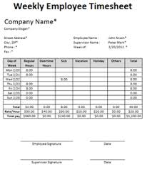 Excel Employee Time Sheet Free Excel Employee Timesheet Template