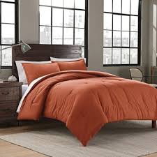 orange and brown bedding. Interesting Brown Garment Washed Solid TwinTwin XL Comforter Set In Burnt Orange Intended And Brown Bedding