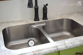 simple kitchen design white laminate countertops home depot undermount double stainless steel sink