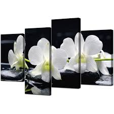 orchid canvas wall art in well known canvas wall art of orchids in black white