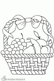 Kleurplaten Fruitmand