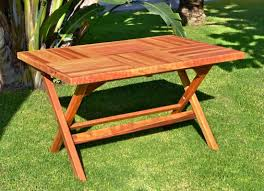 image of solid wood folding table