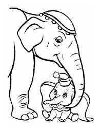 Coloring Pages Animals Elephant 167 Mother And Baby Elephant