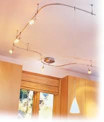 image of pendant flexible track lighting for kitchen