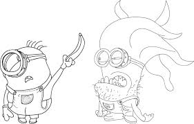 Minions Coloring Pages Banana Spikedsweetteacom