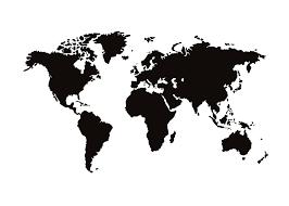Zwart Wit Print Met Wereldkaart Leuke Dingen Wereldkaart