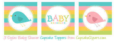 baby shower cupcake toppers cupcake