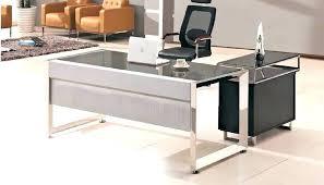 modern glass office desk. Glass Top Office Desk Modern Table Design With Wooden Side . R