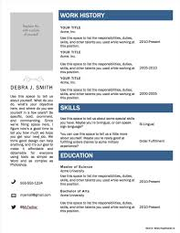 Free Fillable Resume Templates Free Fillable Resume Templates Microsoft Resume Resume 4
