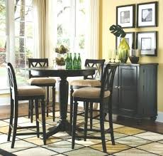 black round counter height pedestal dining room set american drew camden collection