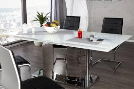 Designer Dining Table High Gloss White Extendable 180 220