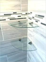 s glass corner shower shelf tile