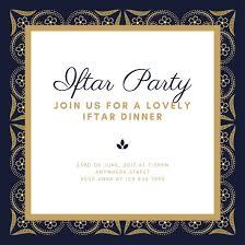 Party Invitation Background Image Dark Blue Gold Elegant Floral Background Ramadan Iftar Party