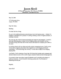 Cover Letter For Marketing Internship Marketing Internship Cover Letter With No Experience Jason Kroll 15