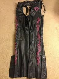 Womens Harley Davidson Blissful Leather Chaps Sz S Small